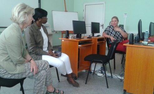 Visita de Yolande Mersch al GEPROY