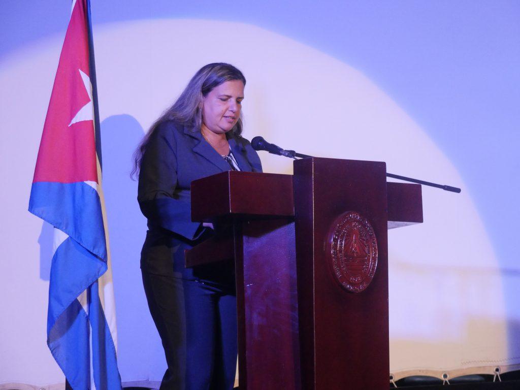 Palabras de la Decana de la Facultad de MFC, Dra. Yanet Rodríguez Sarabia