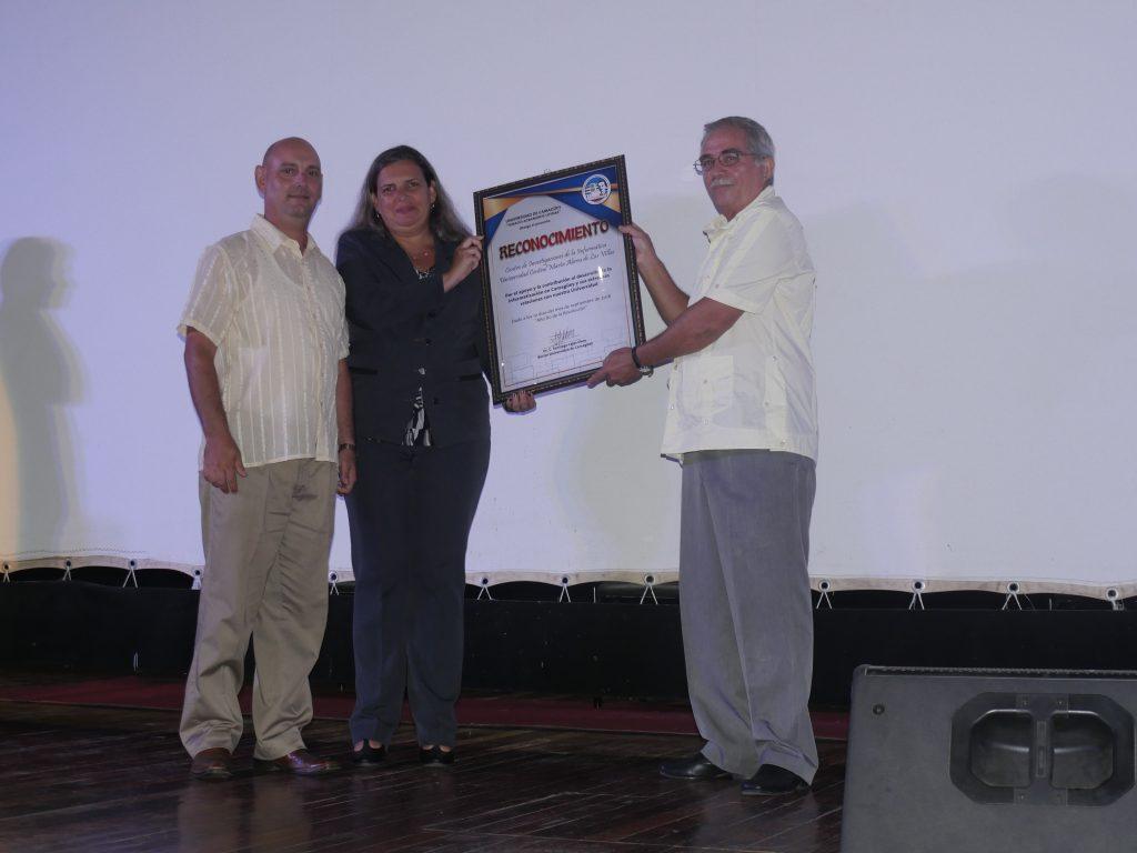"""Reconocimiento de la Universidad de Camagüey """"Ignacio Agramonte Loynaz"""""""