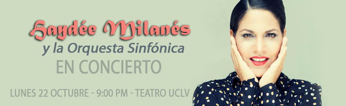 Haydée Milanés y la Orquesta Sinfónica de Villa Clara en concierto