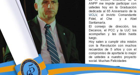 Palabras del Rector Andres Castro Alegría