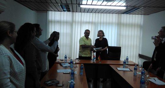 Visitó delegación oficial de la Universidad Alemana de ULM la UCLV