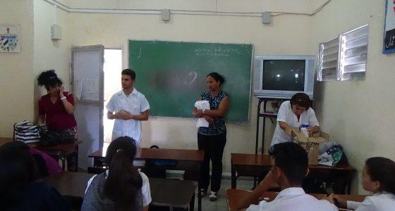 Actividad del proyecto sociocomunitario Química para la Vida