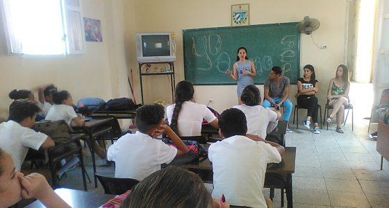 """Realizada actividad comunitaria en la escuela secundaria """"José Martí"""" de Santa Clara"""