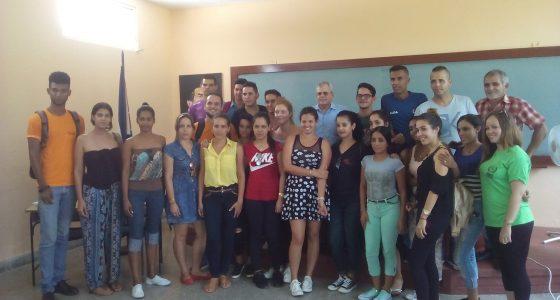 Homero Acosta debate junto a estudiantes de Derecho Proyecto de Constitución Cubana