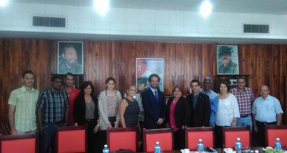 Visita Director Regional del Buró Caribe de la Agencia Universitaria de la Francofonía a la UCLV