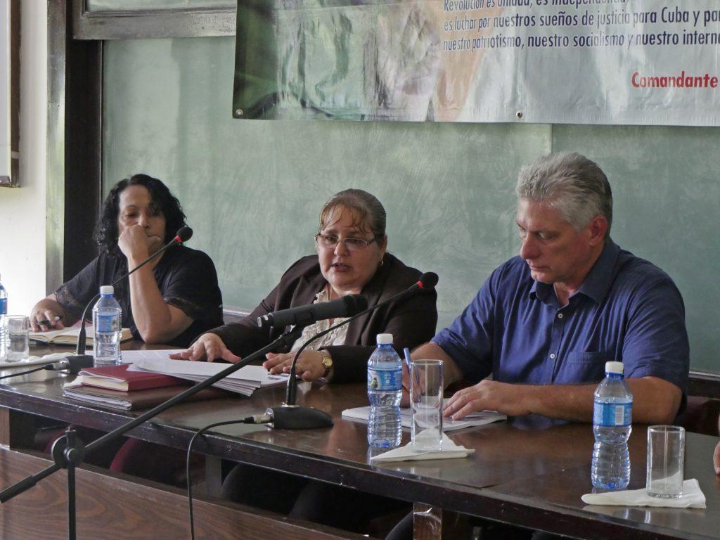 La Dr. C. Osana Molerio Pérez, Rectora de la Institución, realizó una presentación sobre los logros y retos de la Universidad