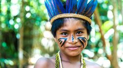indigenous boy in the Amazon