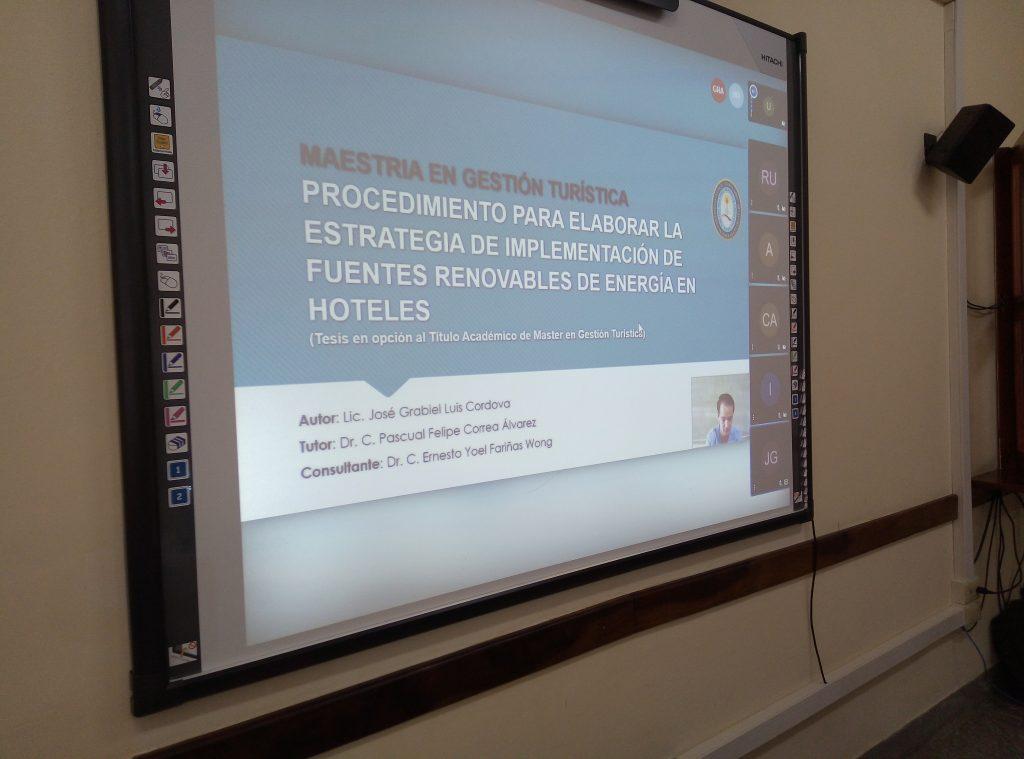 En UCLV, primera defensa de tesis desde zona roja